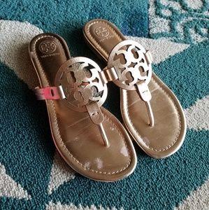 {Rose Gold} Tory Burch Miller Sandals